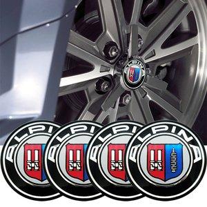 4pcs 56mm 65mm Car Wheel Center Hub Cap Cover Sticker for BMW ALPINA Tail model e46 e90 e60 e39 e36 f30 f10 f20 car accessories