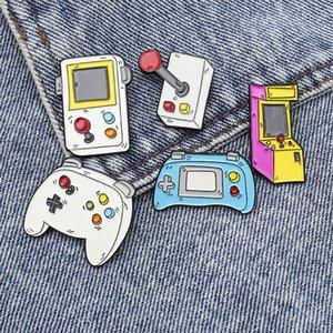 Oyun makinesi Koleksiyonu Broş Oyun severler Çocuk Çocukluk Oyun konsolu Yumuşak Emaye iğneler Rozet Moda Karikatür Simge Yaka Pinzdl038.