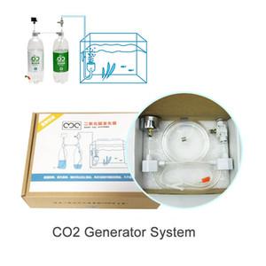 Tanque de Peixes de aquário DIY Sistema Gerador de CO2 Água E Palha Cilindro de Pressão De Ar Do Cilindro de Ajuste de Válvula de CO2 Difusor
