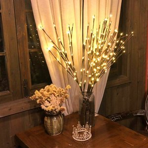 Christmas Decorations for Home LED Willow Branch Lamp Battery Powered Decorative Christmas Ornaments Tree Decorations