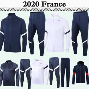 2020 FRANCE Full zip Jacket Soccer Jerseys Suit National Team MBAPPE GRIEZMANN Sapphire White Tracksuit Kit Football Shirt Maillot de foot