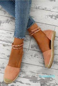 Los nuevos zapatos de las mujeres sandalias de verano cómodo gamuza sintética plana ComfortableSize 35-43 de los zapatos ocasionales Zapatos Mujer Tamaño 35-43 YP-87 L02