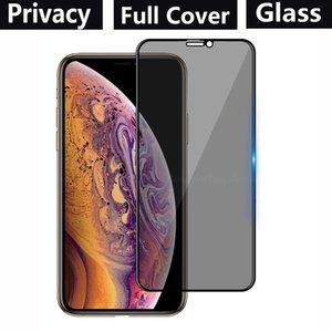 Cobertura completa de la privacidad de vidrio templado pantalla del teléfono protector para el iPhone 11 PRO MAX XR XS MAX SE 2090 SAMSUNG A01 A20S A20E A10E S10 Lite