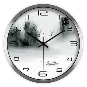 Stampa artistica Animal Antique Clock Creative Classic Silent Retro Large Vintage Orologio da parete digitale Design moderno Orologi Ago