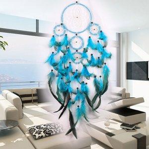 Große Dreamcatchers Wind Chime Net Hoops Mit 5 Ringe Dream Catcher Für Auto Wandbehang Plaze Ornamente Dekoration Handwerk Freies Verschiffen