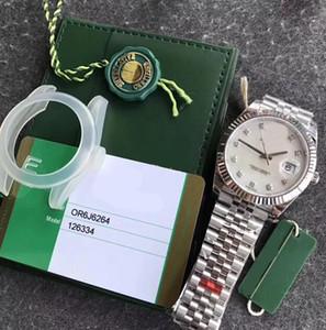 126334 Männer Top-Rose EW 41MM Automatische Cal.3235 Uhren Datejust Jubilee Edition Weiß Dial Diamant Swiss Superlativ Chronometeruhr