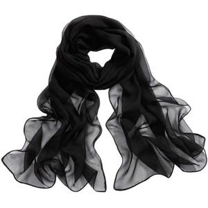 Sommer-Schal-Strand-Art Silk Pure White Soft-Thin Wraps Oblong-Schal-Schal Fabulous Halstuch Schöne Tippet Echarpe #YY