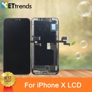 Schermo Real GX Soft OLED per iPhone X Assembly con garanzia a vita DHL Free Shipping