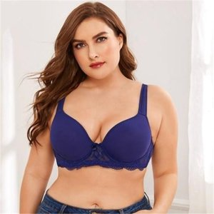 Cup No Rims Bralette Casual Womens Underwear Push Up Women Big Size Sexy Bra Lace Solid Color Ladies Wireless Bra Front Closure