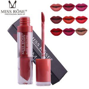 DHLFree는 MISS ROSE 24colors 누드 매트 립스틱 입술 모이스춰 라이저 금속 색상 액체 립스틱 매트 립 글로스의 360pcs를 선적