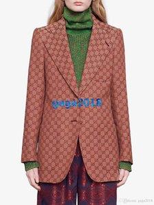 donne di fascia alta le ragazze di tela blazer tutto ad incastro unico capispalla di lusso lettera picco bavero petto manica lunga di modo del cappotto