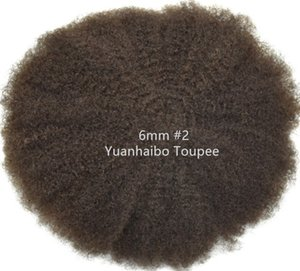 Afro Hair Full Lace Toupee 4mm 6mm 8mm 10mm Indian Virgin Remy Human Hair Replacement Afro Kinky Curl Mens Wig Free Shipping