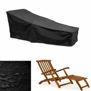 Black Polyester Lounge Chair waterproff Furniture Cover Outdoor Beach Chair Recliner Leisure Dustproof Waterproof Cover