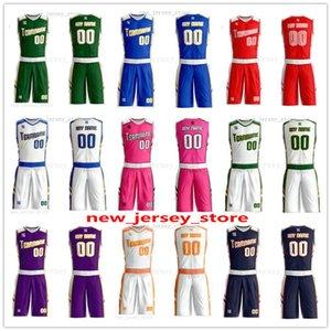Personnalisez Tout nom Un nombre quelconque Homme Femmes Lady jeunes enfants garçons Basket-ball Maillots Sport Chemises Comme les photos que vous Offre ZZ0170
