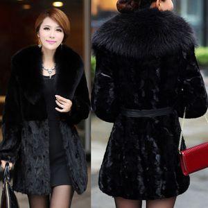 Women Ladies Fashion New Style Long Sleeve Jackets Slim Faux Fur Open Stitch Winter Coats Warm Casual Coat
