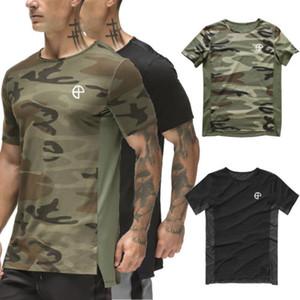 Ropa transpirable culturismo tee Hombres aptitud de los deportes camiseta del Athletic