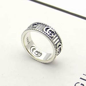 роскошные ювелирные изделия мужские кольца античное серебро G дизайнерские кольца выгравированные с полосой титановые стальные обручальные кольца для пары