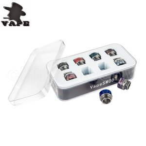 TFV8 Tfv12 Drip Tip in 1 Kit SS Epoxy Resin Mouthpiece Grid Honeycomb Cobra Snakeskin VapeSMOD Driptip Fit 810 Atomizers DHL Free