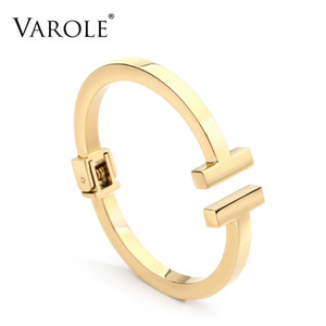 Strip pulseras femeninas cuadrado de acero inoxidable de moda para las mujeres VAROLE los brazaletes joyería del verano regalo Pulseiras