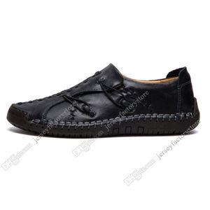 Yeni El seti ayak İngiltere bezelye ayakkabı deri erkek ayakkabıları erkekler rahat ayakkabılar dikiş düşük büyük boy 38-48 Otuz dokuz