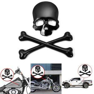 3D Skull Metal Skeleton Crossbones Car Motorcle Sticker Label Skull Emblem Badge Car Styling Stickers Accessories