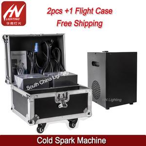 2 pezzi con flycase 600W DMX512 Controllo Sicurezza Fireworks Sparkler Cold Spark Machine Fontana Sparklar con telecomando per evento DJ di nozze