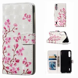 3D Leather Wallet Flower Tiger Skull Owl Card stand Flip back cover Case for Huawei p30 pro p30 lite mate 20 P Smart 2019 xiaomi A3 PRO