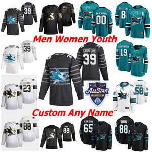 San Jose Sharks St Patrick's Day Hockey Jerseys Women 21 Brandon Davidson Joe Thornton Evander Kane Brent Burns Logan Couture Custom Stitch
