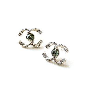 diamante negro fila de diamante carta C pendientes puros hechos a mano de alta calidad retro mujeres pendientes exquisita moda temperamento de metal