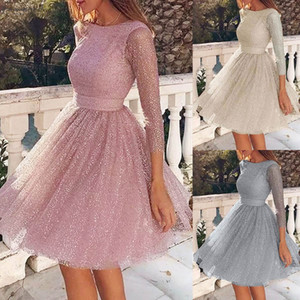 Women Sling Cross Wedding O Neck Elegant Party Evening Slim Hollow Lace Dress Dropshipping Winter Twill 2020 Fashion Work Clothes