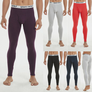 Thermal Underwear Bottom Men Winter Warm Clothes Long Underwear Stretchy Pants Soft Cotton Slim Thermal Leggings