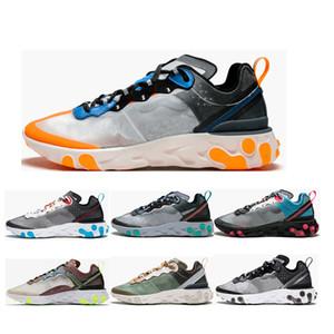 럭셔리 신발 라이트 뼈 신호 블루 태양 레드 트레이너 디자이너 운동화 크기 36-45를 실행 요소 87 개 망 여자 반응