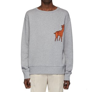19FW Cerf Imprimé Cartoon Sweat-shirt ras du cou Hommes Femmes Mignon Pull Automne Hiver manches longues rue outwear chandail HFYMWY324