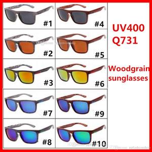 Nachahmung Holzmaserung Marke Sonnenbrille 731 Outdoor-Sport Herrenbrille 10 Farben unpolarisierte UV400 Sonnenbrille