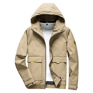 TFETTERS 2020 Spring Autumn Casual Solid Slim Bomber Hooded Jacket Men Regular Overcoat Baseball Jackets Men's Streetwear Jacket