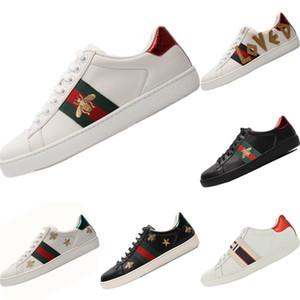 2020 Cucci Ace İşlemeli küçük arı Casual Sneakers Orijinal Ace Küçük Arı İşlemeli Düşük Cut Dahili Zoom Air Kaykay Ayakkabı