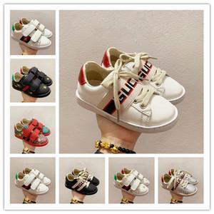 2020 nuevos niños niñas zapatos fresa cabritos de la impresión ocasional calza muchachos zapatillas de deporte del cuero de lujo childrens tamaño de los zapatos 24-35