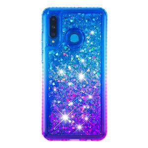 2021 Heißer Verkauf Anti-Abfall-wasserdichtes Side-Bohrer plus Gradient-Farbe Quicksand TPU-Handy-Kasten für Huawei p30 lite