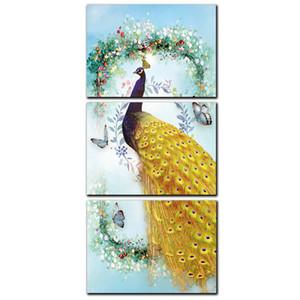 Bellissimi uccelli pavone decorazioni per la casa arte della parete pittura animale Art Repro pittura a olio su tela