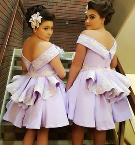 Lavender Bridesmaid Dresses Design Exclusivo 2019 New Big Bow Vestidos De Convidados De Casamento De Cetim Junior Maid Of Honor Dress