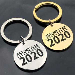 ترامب 2020 كيشاين أي شخص آخر إلكتروني طباعة قلادة مفتاح الطوق الهدايا التذكارية الإبداعية هدية حامل مفتاح مجوهرات اكسسوارات TTA1460