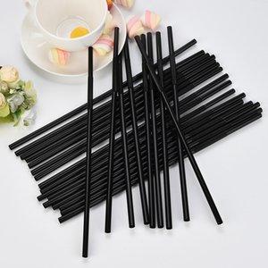 100 pz Cannucce 260mm / 256mm / 210mm Nero Lungo flessibile Rifornimenti Del Partito di nozze di plastica Cannucce accessori per la cucina