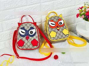 Enfants sacs à dos filles dessin animé hibou sacs à dos designer de mode enfants lettre imprimée double sac à bandoulière enfants sac à main F5008