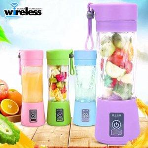 Portable électrique Fruit Juicer Coupe légumes jus d'agrumes Blender extracteur Broyeur à glace avec le jus Connecteur USB rechargeable Maker