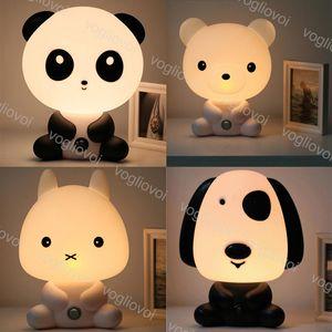 Настольные лампы 15 Вт ПВХ мультфильм милая панда собака кролик медведь 110-240V ЕС / US Plug Indoor для Дня святого Валентина Дня Валентина подарок на день рождения DHL