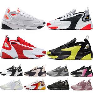2000 Race zoom 2K Zapatos M2k Tekno para mujer para hombre Entrenadores cojín zapatos Rojo Blanco Amarillo Gris dinámico de infrarrojos de los zapatos corrientes AO0269
