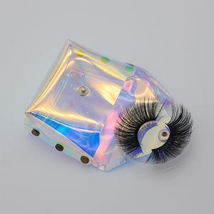 Пустые упаковки Ресницы Голографическая сумка для Ресниц с лотком Lash Box Новый дизайн для Strip Lashes 3D Минк Lashes
