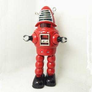 Colección para adultos Retro Wind up toy Metal Tin The bullet robot Juguete mecánico Clockwork toy figuras modelo niños regalo de navidad SH190913