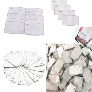 cotton face mask with filter pm2 5 filter Paper Anti Haze Mouth Mask Anti Dust Mask Activated Carbon Filter Paper In Stock 50pcs Lot