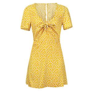 여성 여름 빈티지 Boho 맥시 이브닝 파티 비치 미니 드레스 Floral Sundress AU
